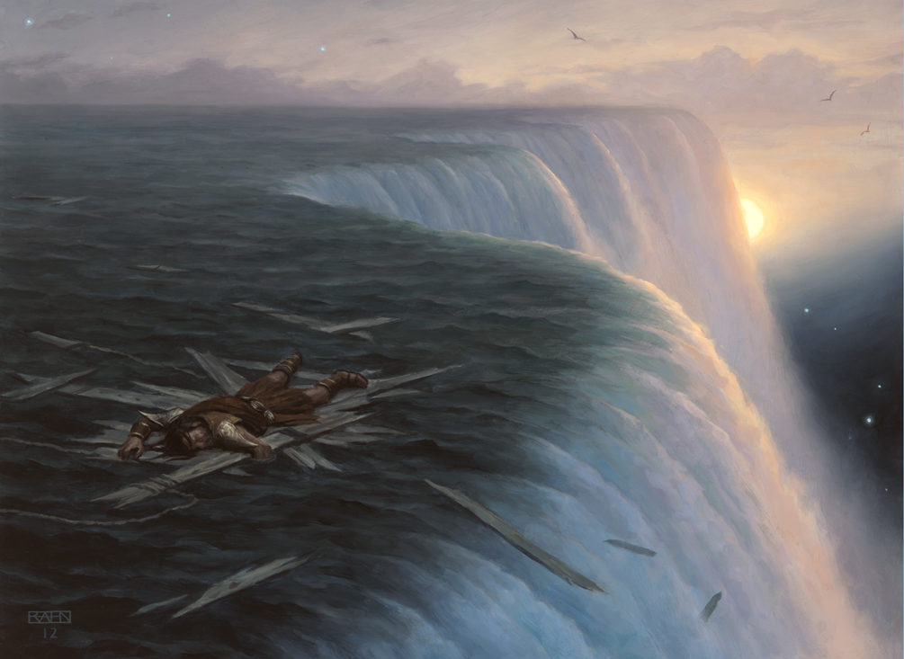 Hope you guys are having a good evening. Huge Waterfall in this artwork picture. :)